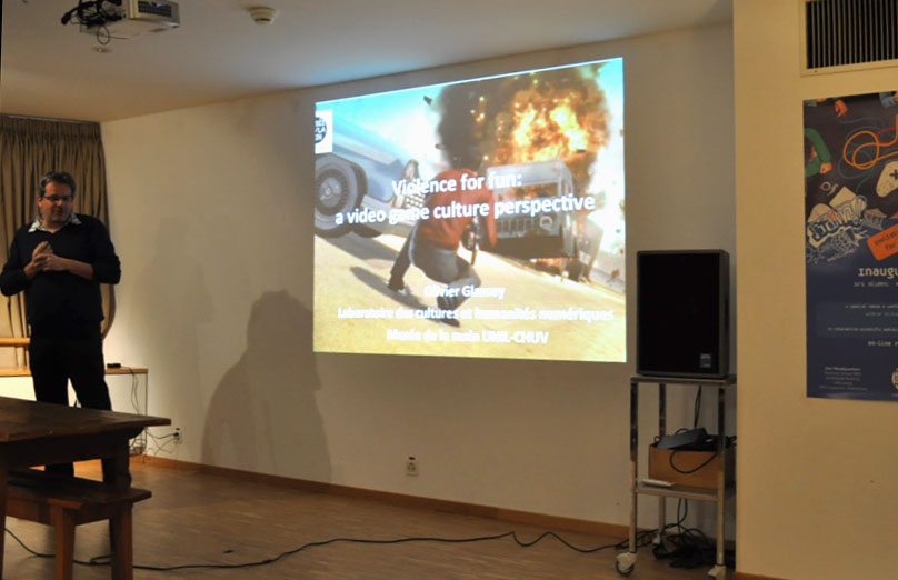 "Conference ""Violence for fun: a video game culture perspective"" by Dr Olivier Glassey, Director of the Musée de la main UNIL-CHUV"
